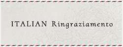 ITALIAN Ringraziamento